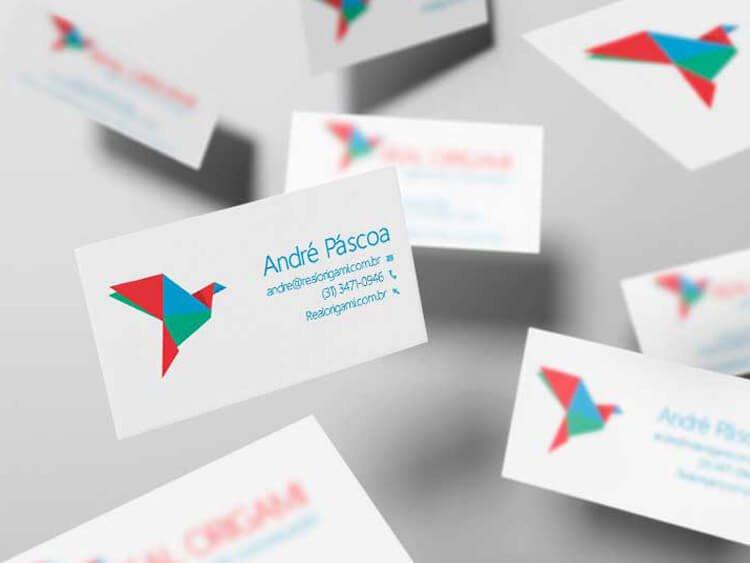 Identidade visual para empresas cartões