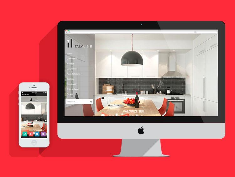Slide Criação de sites responsivos Italyline