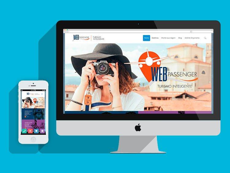 Slide Criação de sites responsivos Webpassenger