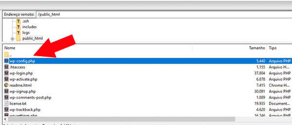 Editando o arquivo Wp-config.php